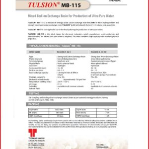 Spec Sheet - Tulsion MB115